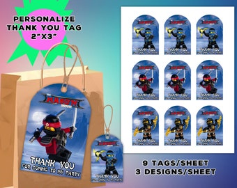 Ninjago Favor Boxes Etsy