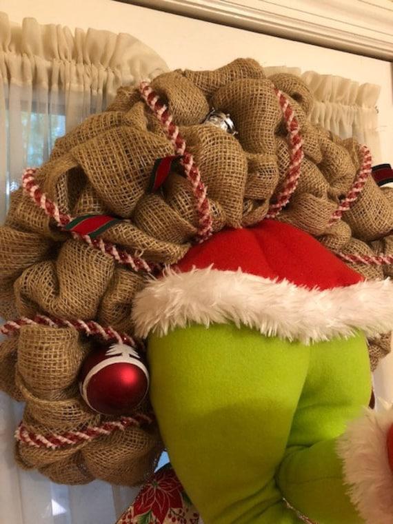 Christmas Plush Toy Doll How The Grinch Stole Legs hands Xmas Tree Wreath Decor