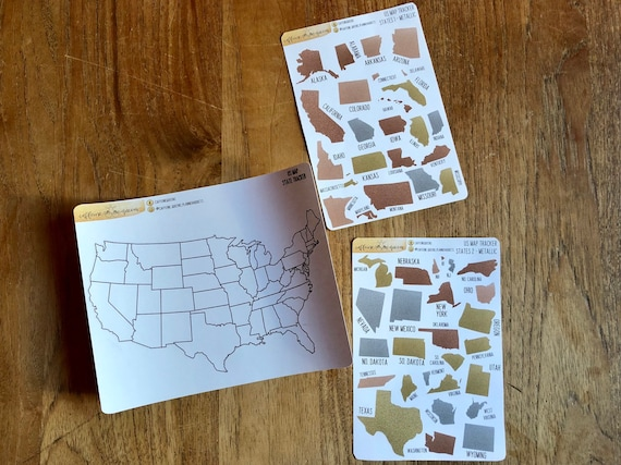 USA States Tracker Map | Planner Stickers on