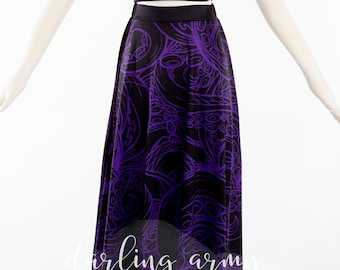 d7d4b8e5754 Ursula Tentacle Little Mermaid Disneybound Cosplay Maxi Skirt by Darling  Army