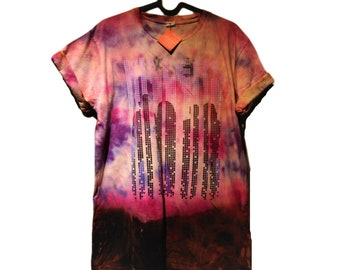 The Killers Band Tour T Shirt, Hand Distressed, Tie Dyed, Reworked Clothing, Grunge Style, Retro Style T Shirt, Alternative Style, Rocker