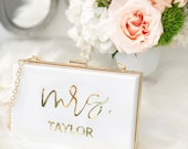 Mrs Purse Bride Clutch Purse for Wedding Bridal Clutch Custom Gift for Bride to Be Personalized Wedding Gift for Bride (EB3338MRS) photo