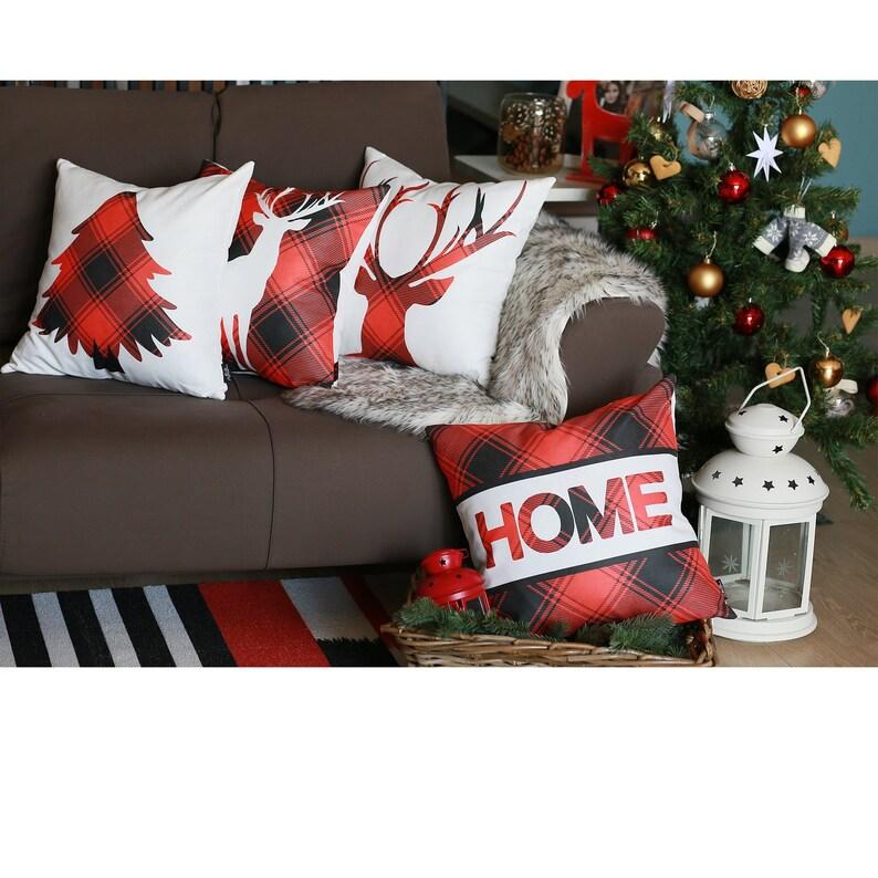 Merry Christmas Set Of 4 Throw Pillow Covers Christmas Gift 18x18