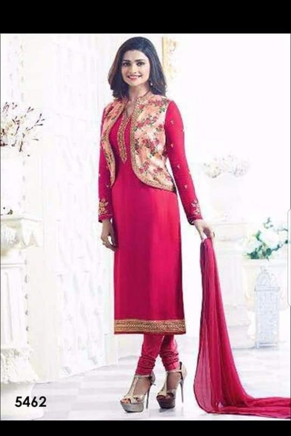 Desingner Suit/Hot pink/Party Wear/Prachi Desi Des