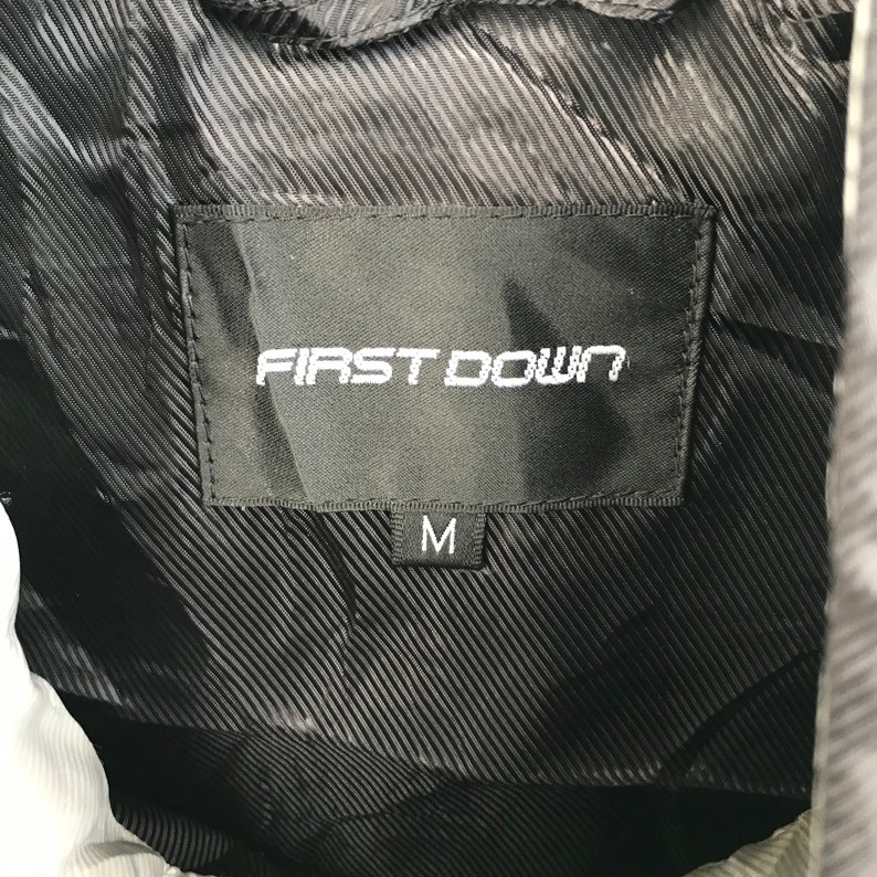 First Down Black Windbreaker Small Logo Sweater Size Medium Hot Item !