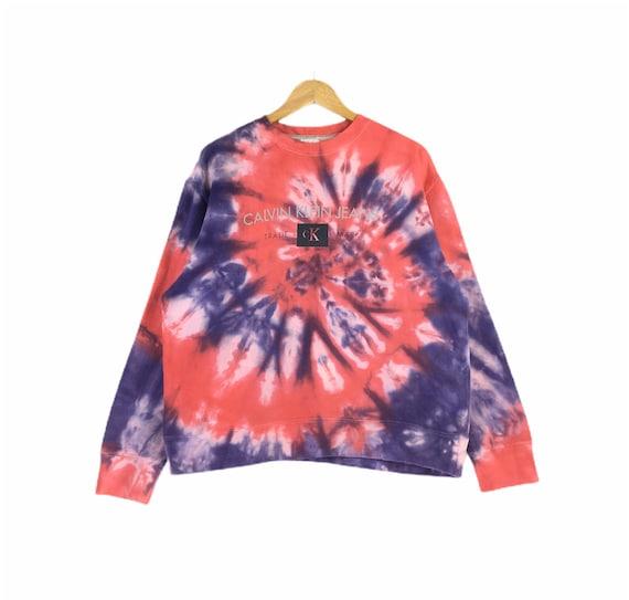 Calvin Klein Custom Tie Dye Bleach Wash Big Logo P