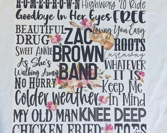 bc0ed80510a14 Zac Brown Band Inspired Tee