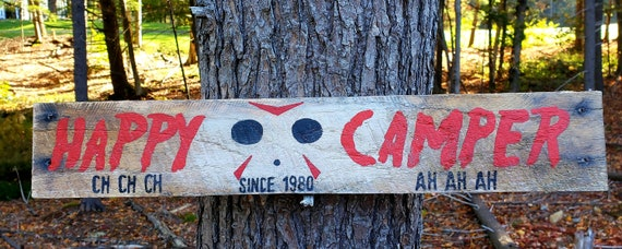 Friday the 13th Wood Sign