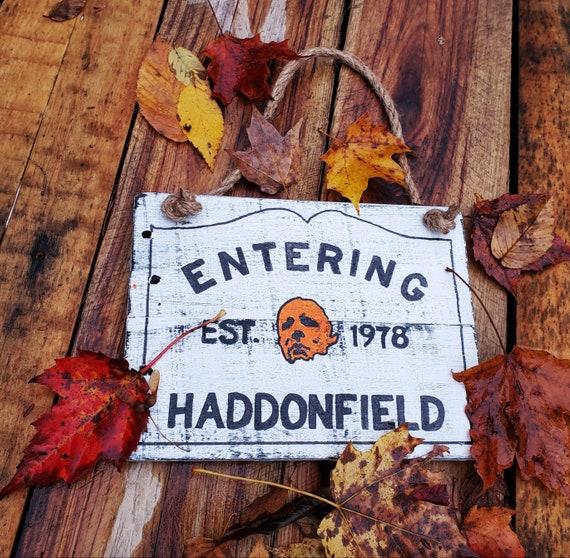Entering Haddonfield Wood Sign