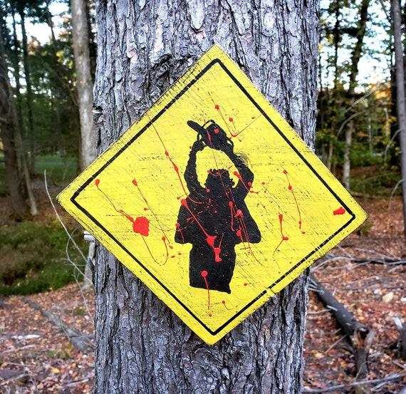 Leatherface Wood Sign