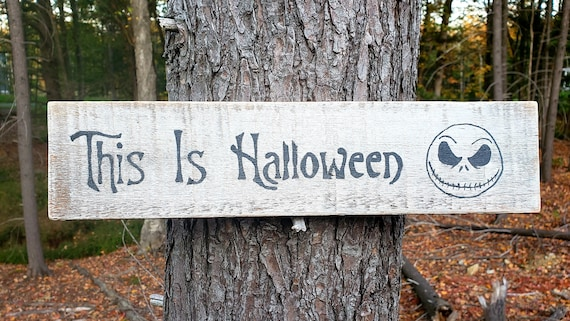 This Is Halloween Wood Sign