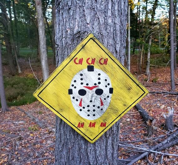 Jason Voorhees Wood Sign