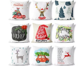 christmas pillow cover collection decorative pillow cases gifts christmas decorations cover sets christmas gifts - Christmas Decorative Pillows