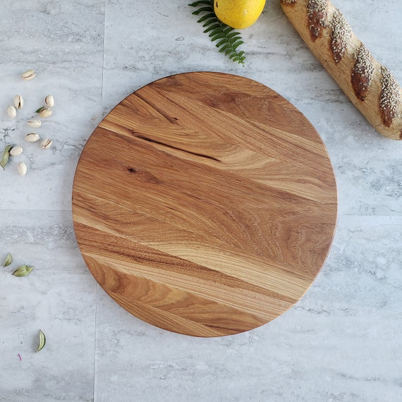 Round Pizza Serving Board 14 Inch Large Charcuterie Board Cheese Board
