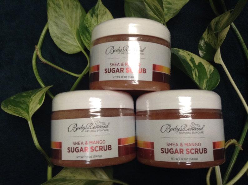 Handmade Natural Sugar and Shea Shower Scrub  Natural Sugar image 0