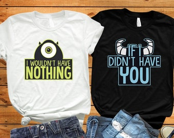 d6b948a4d Monsters Inc shirt, Disney couple shirts, Mike and Sully shirts, Monster  University, Matching shirts, Disney world, Disney matching shirts