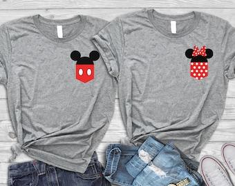 e178a87a7 Disney couple shirts, Couples Disney shirts, Disney matching shirts, Mickey  and Minnie, Family vacation shirts, Disney couple tshirts,