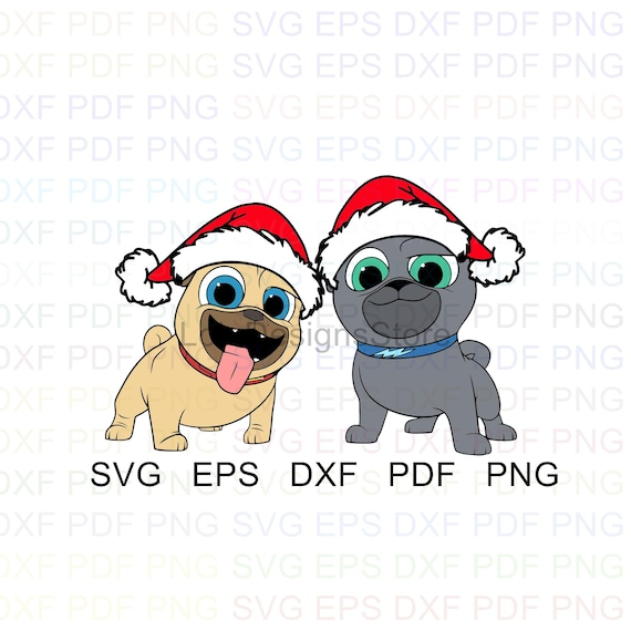 Rolly And Bingo Christmas Puppy Dog Pals Vector Clipart Svg Etsy
