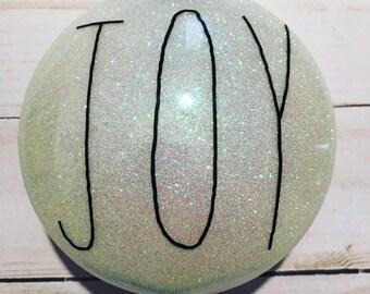 Personalized glitter Christmas ornament, custom order