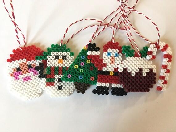 Christmas Hama Beads.6pk Hama Bead Christmas Decorations