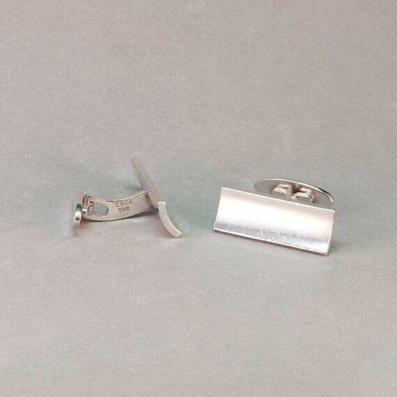 Vintage silver cufflinks Heavy brutalist cufflinks by Swedish jeweler Peter Schutz