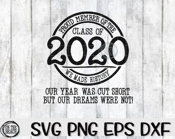 Class Of 2020 Svg Etsy
