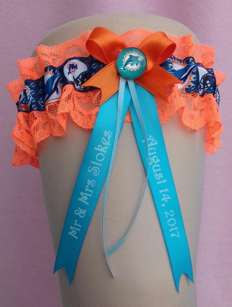 Miami Dolphins Personalised Wedding Garter