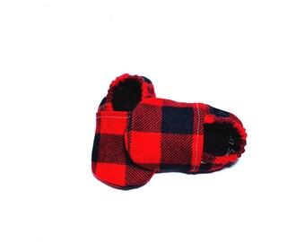 bc27facae10 Buffalo Plaid Baby Shoes
