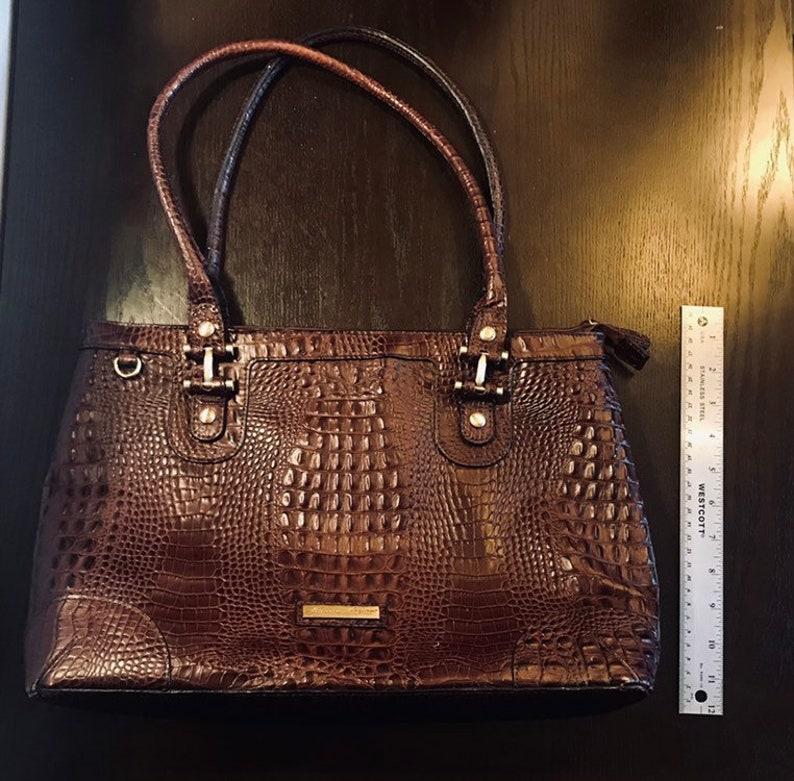 Vintage Etienne Aigner Large Leather Tote ~ Dark Brown Genuine Pebbled Leather ~ Shoulder Tote Purse ~ 1980s1990s Women/'s Professional Bag