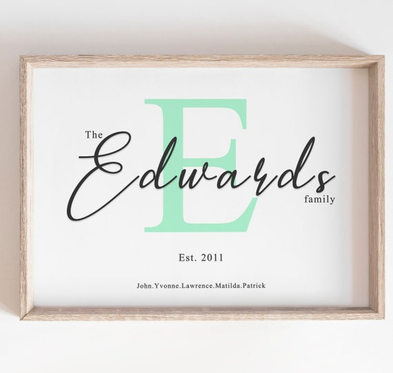 Personalised Name Frame Perfect wedding or anniversary gift