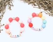Personalized Name Bracelets, Party Favors, Saying Bracelet, Personalized Necklace, Anklet Bracelet, Stretch Bracelets, Gift For Little Girl