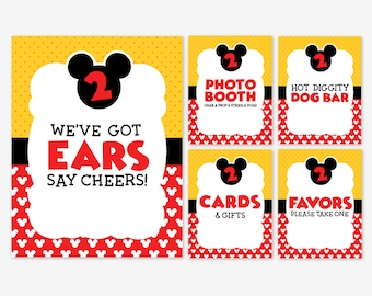 graphic regarding Free Printable Mickey Mouse Signs identified as Mickey Mouse Printable Indicators Mickey Mouse Get together Signs and symptoms Mickey