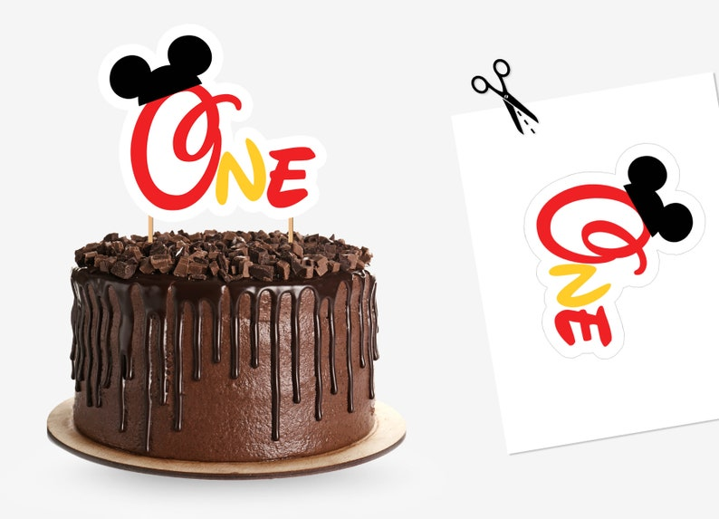 Mickey Mouse Birthday Decorations Cake Topper