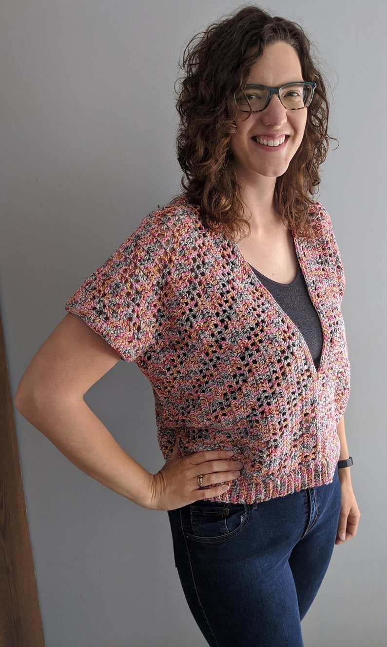 Handmade Crochet Loose Cotton Top  Made to Order image 0