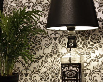 Jack Daniels lamp, gift, upcycled, other lampshades on request