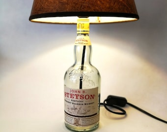 John B. Stetson Bourbon Whiskey Lamp, Gift, Upcycling, Other lampshades on request