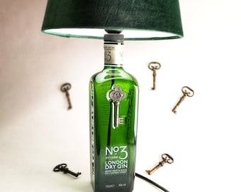 No.3 London Dry Gin Lamp, Gift, Upcycled