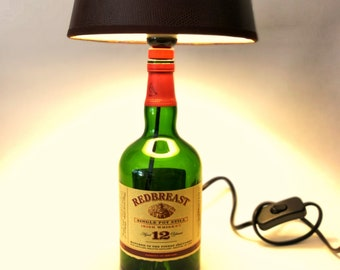 Redbreast Irish Whiskey 12 years , Lamp, Upcycling, Gift