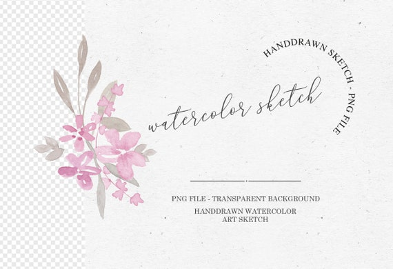 Watercolor Flower Clipart Graphic Design Png Flower Wedding Clipart Wedding Wreath Card Design Hochzeitskarten Pink Grey Clipart