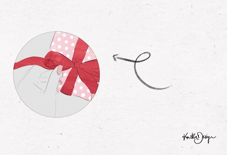 GIFT WRAPPING CLIPART  christmas gift fashion illustration clipart for Card Design