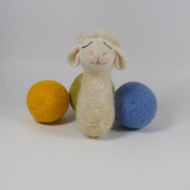 RTS felted newborn baby posing stuffed toys animal set felt bunny doe fawn deer deer sheep lamb fox girl boy Easter photo photography props