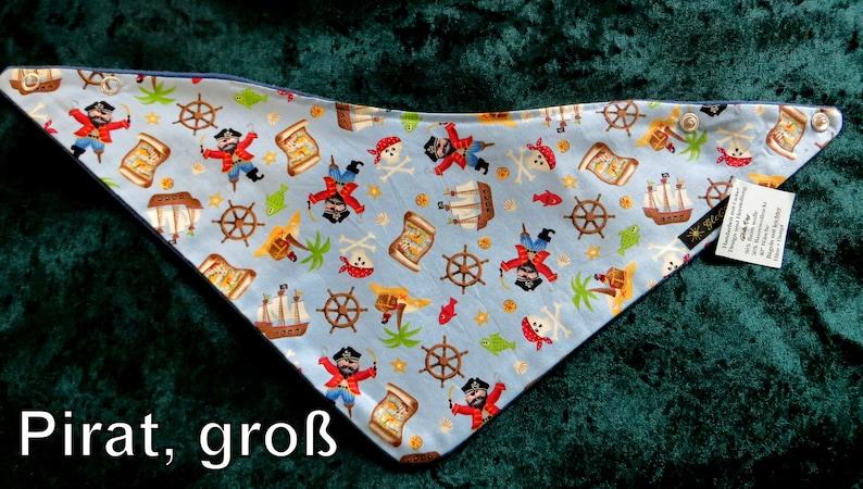 warm scarf big triangle scarf Pirate blue age: 4-9 years image 0