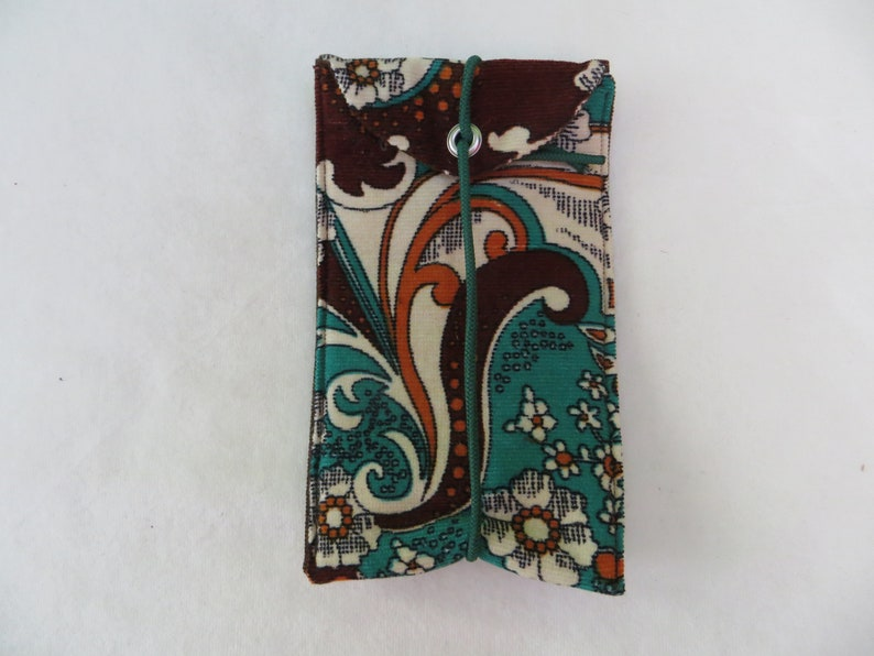 Cell Phone  I Phone  Bag L 15x9cm Hippi 2 fabric mix image 0