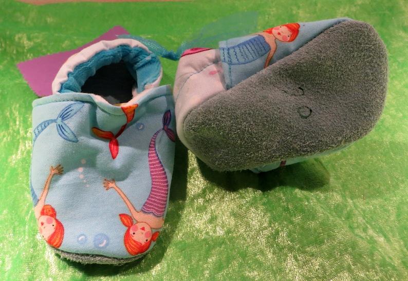 Booties Mermaid in size 17 18  20 kids slippers toddlers image 0