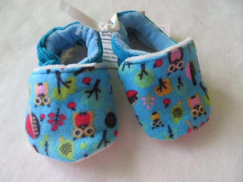 Booties little owl in size 16 and 19 kids slippers toddlers image 0