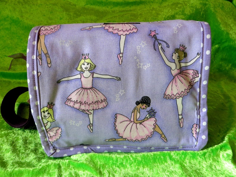 Nursery school bag  Ballerina purple image 0