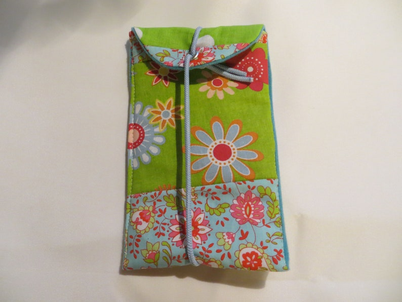 Cell Phone  I Phone  Bag L 15x9cm Lovely fabric mix image 0