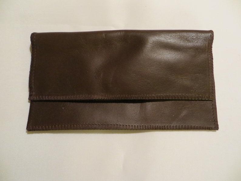 Tobacco bag leather brown or mobile phone pocket image 0