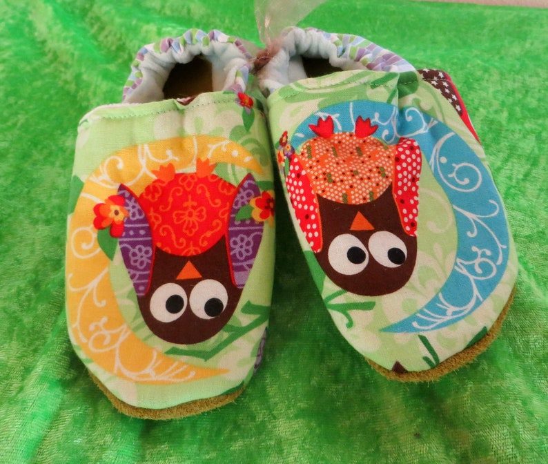 Booties Owls from size 19-28 kids slippers toddlers  first image 0