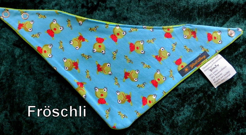 warm scarf small and large neckerchief Froggy age: 0-3 image 0